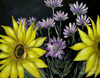 Painting - Sunflowers Kiss.original Painting by Oksana Semenchenko