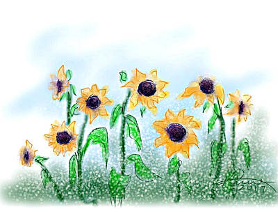 Painting - Sunflowers by Kume Bryant