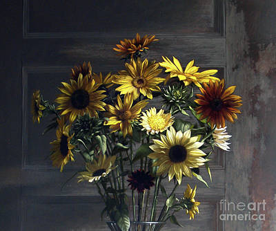 Painting - Sunflowers by Larry Preston