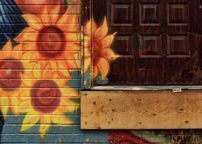 Photograph - Sunflowers - Loading Dock by Nikolyn McDonald