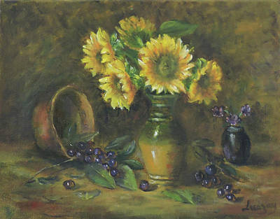 Painting - Sunflowers by Luczay
