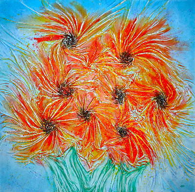 Sunflowers Art Print by Marie Halter