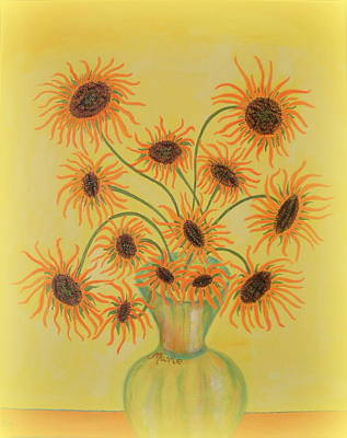 Painting - Sunflowers by Marie Schwarzer