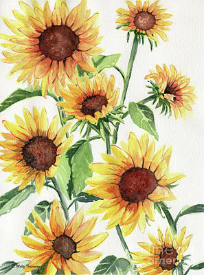 Painting - Sunflowers by Melly Terpening