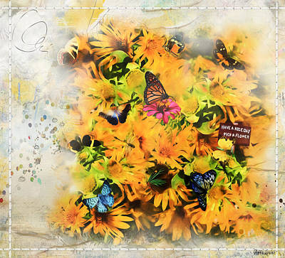 Photograph - Sunflowers Melody by Anna Louise