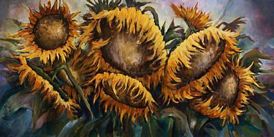Sunflowers Art Print by Michael Lang