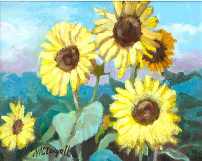 Painting - Sunflowers by Michael McDougall