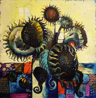 Painting - Sunflowers by Mikhail Zarovny