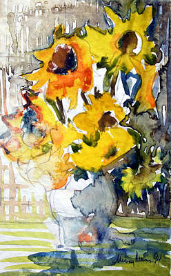 Sunflowers Art Print by Mindy Newman