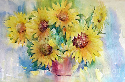 Painting - Sunflowers by Natalia Eremeyeva Duarte