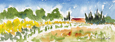 Painting - Sunflowers Near Arles by Pat Katz