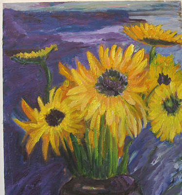 Painting - Sunflowers Of My Mind by Carolyn Zaroff