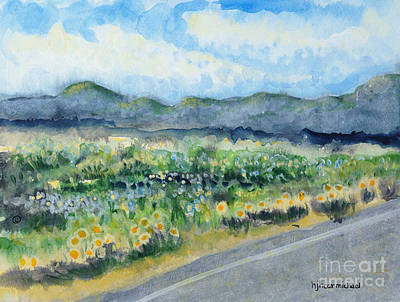 Painting - Sunflowers On The Way To The Great Sand Dunes by Holly Carmichael