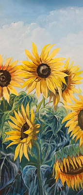 Painting - Sunflowers Part 2 by Jana Goode