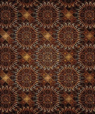 Metal Digital Art - Sunflowers - Pattern - Fractal by Anastasiya Malakhova