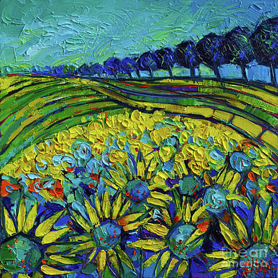 Sunflower Painting - Sunflowers Phantasmagoria by Mona Edulesco