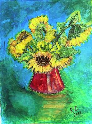 Painting - Sunflowers by Rae Chichilnitsky