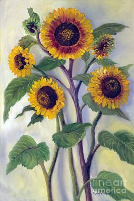 Painting - Sunflowers by Randol Burns