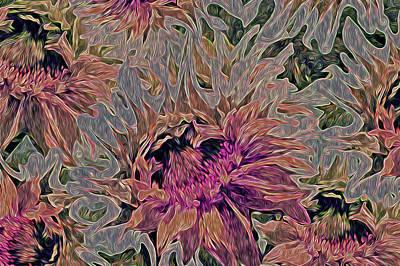 Sunflowers Rising 42 Art Print by Lynda Lehmann