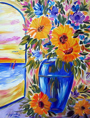 Painting - Sunflowers by Roberto Gagliardi