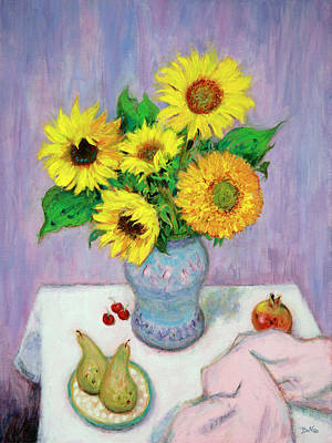 Lilac Painting - Sunflowers by Sandra Delaney