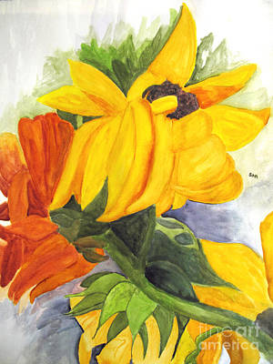 Painting - Sunflowers by Sandy McIntire