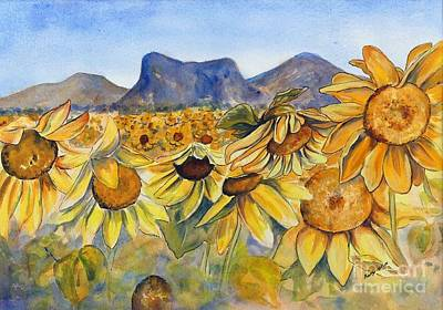 Painting - Sunflowers Springsure, Queensland by Ryn Shell