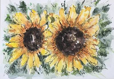 Painting - Sunflowers by Stephanie Sodel