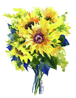 Painting - Sunflowers, Summer Colors by Suren Nersisyan
