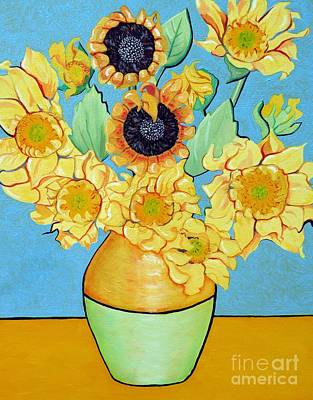 Sunflowers Tribute To Vincent Van Gogh II Original