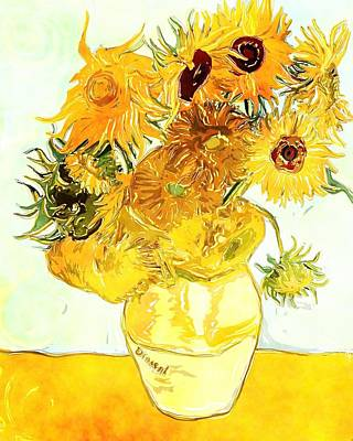 Painting - Sunflowers Van Gogh by Vincent Van Gogh