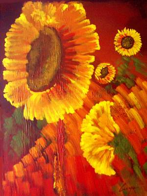 Painting - Sunflowers by Victor Cuya
