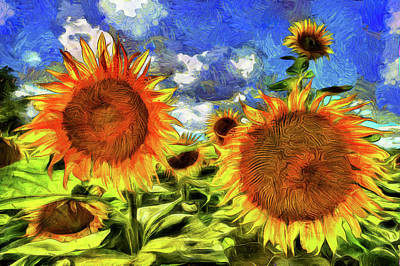 Impressionism Photos - Sunflowers Vincent Van Gogh by David Pyatt