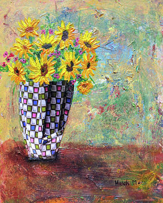Painting - Sunflowers Warmth by Haleh Mahbod