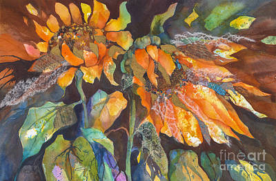 Sunflowers Wild And Free Art Print by Kate Bedell