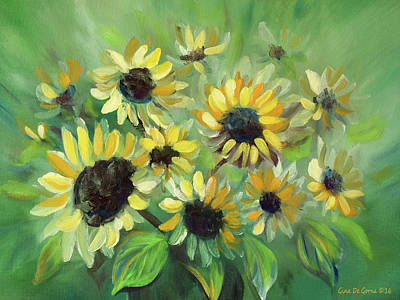 Painting - Sunflowers33 by Gina De Gorna