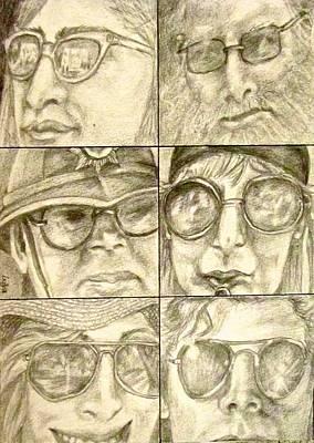 Drawing - Sunglasses by Barbara O'Toole