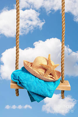 Sunhat On Swing Art Print by Amanda Elwell