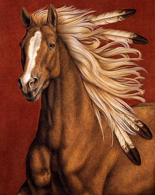 Native American Horse Painting - Sunhorse by Pat Erickson