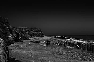 Greenman Photograph - Sunken Pillbox.  Happisburgh Beach. Norfolk by Lee Thornberry