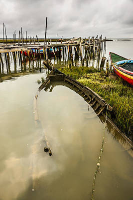 Photograph - Sunken Fishing Boat by Marco Oliveira