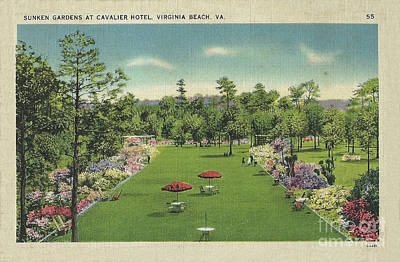 Digital Art - Sunken Garden At The Cavalier Hotel Virginia Beach by Melissa Messick