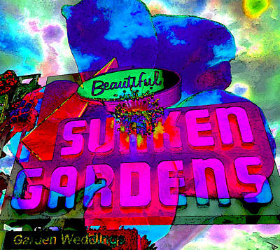 Painting - Sunken Gardens Florida by David Lee Thompson