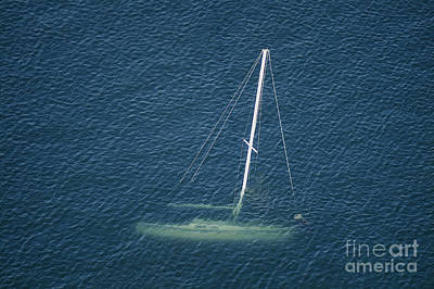 Photograph - Sunken Sailboat by Patrick M Lynch