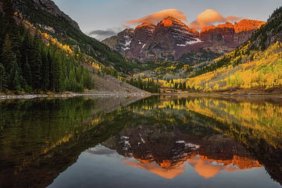 Colors Of Nature Photograph - Sunkissed Peaks by Darren White