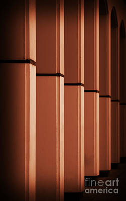 Art Print featuring the photograph Sunkissed Pillars by Baggieoldboy