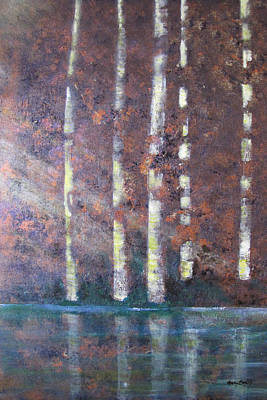 Sunlight And Birch Art Print by Gary Smith