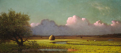 Sunlight And Shadow The Newbury Marshes Print by Martin Johnson Heade