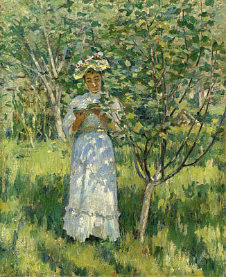 Painting - Sunlight And Shadows by Theodore Robinson