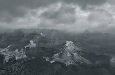 Photograph - Sunlight And The Canyon Bw by Jonathan Nguyen